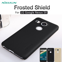 For LG Nexus 5X case NILLKIN Frosted Shield matte hard back cover case For LG Google Nexus 5X phone cases Gift screen protector(China)