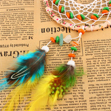 Home Wall Hanging Decoration Ornament Craft Gift Dream Catcher with natural stone Feathers Hot Sale(China)