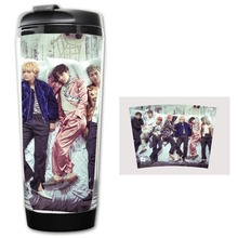 HOT SALE BTS Wings Models Double Insulation Plastic Good Quality Mug Coffee Cup Space Cup BZ1079