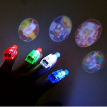 2017  LED Finger Lights Lamps Party Laser Finger Light Up Beam Torch Glow Ring Carnival  Glow Ring Halloween