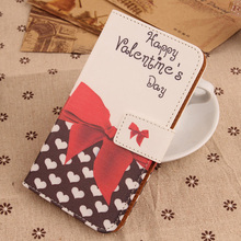 LINGWUZHE Book Style Flip PU Leather Case for MEDION LIFE E5005 MD 99915 Printed Phone Cover