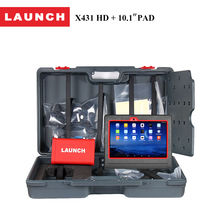"LAUNCH Official Store Original X431 HD+Pad 10.1"" wifi bluetooth scan tool pro diagnostic scanner with photo,video,multimedia(China)"