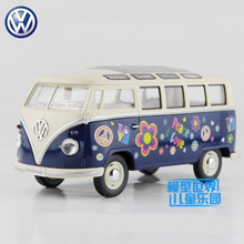 Free Shipping/KiNSMART Toy/Diecast Model/1:24 Scale/1962 Volkswagen Classical Bus Special Car/Educational Collection/Gift/Kid