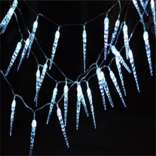 10M 50 LED Icicle String Lights Christmas xmas Fairy Lights Outdoor Home for Wedding/Party/Curtain/Garden Decoration