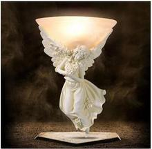 Resin Angel light Carving Athena Goddess Romance Wall Lamp WLL-7(China)