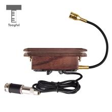 Tooyful Wood Color Rosewood Dual Coil Soundhole Pickup for Acoustic Classical Guitar(China)