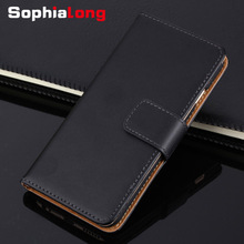 For iPhone 6 7 8 Plus Case Genuine Leather Cases for iPhone X 10 6S Flip Cover Wallet Style for iPhone 8 5S SE Corium Shell Bags(China)