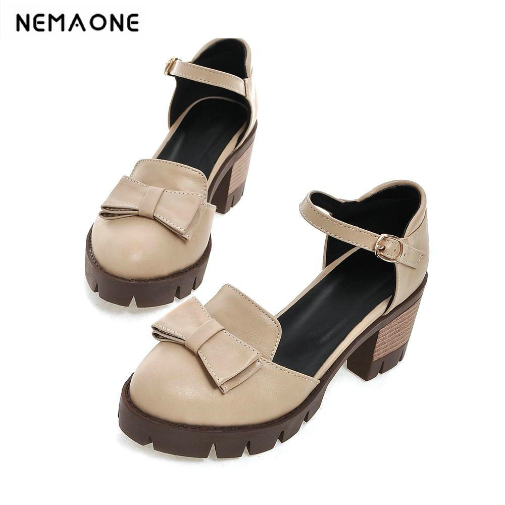 New womens sweet ankle strap square heel platform women shoes casual shoes woman<br>