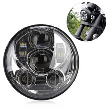 5.75 inch led headlight for harley motorcycle cree Chip 5-3/4 5.75 inch daymaker high beam led  headlamp For Harley