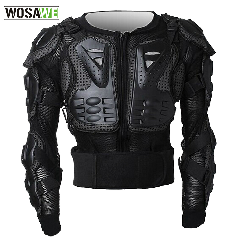 WOSAWE Professional Motorcycle Body Protection Jacket Guards Motorcross Off-Road Armor Spine Chest Protector Gear Back Support<br><br>Aliexpress