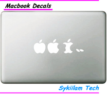 Sticker for White apple evolution Eating Logo Case for Macbook Air 11 13 Pro 13 15 17 Retina Laptop Computer Vinyl Spoof Decal