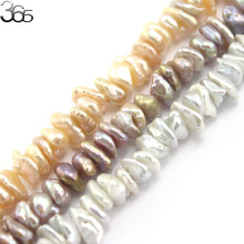 Free Shipping 9-10mm Luster  Baroque Reborn Keshi Pearl Beads Natural Pearl Loose DIY Beads For Jewelry Making Strand 15""