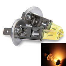 NaviTopia Auto Accessories 2pcs/set H1 55Watt Golden Halogen Lamp Fog Light Car Bulb DC 12V