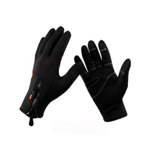 Black Ski gloves warm skiing and riding gloves Motorcycle gloves outdoor Wind and Waterproof cotton gloves(China)
