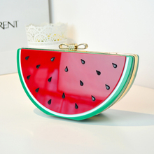 hot sale New Special Evening Bag Watermelon Lemon Fruit Acrylic Bag Bow diomond Small Women Evening Bag Patchwork Clutch(China)