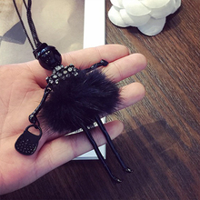 Fashion Modern Design Doll Necklace Long Sweater Chain Pendant Necklaces Collares Girl Women Charms Choker Jewelry Accessories(China)