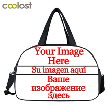 Custom Your Image Logo Name Brand Design Women Travel Bags Multifunctional Female Handbags Waterproof Travel Duffle Shose Holder(China)
