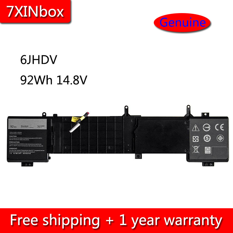 7XINbox 92Wh 14.8V 6JHDV YKWXX 5046J Battery For Dell Alienware 17 R2 R3 Series Laptop