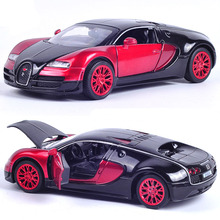 New Collectible Model Cars Bugatti Veyron 1:32 Alloy Diecast Model Cars With Pull Back /Light & Sound For Baby Toy