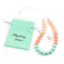 Buy TYRY.HU NEW Baby Teething Necklace Care Jewelry Necklace Safe Silicone Baby Teether Care Tools 0-12 month Food Grade Silicone for $7.57 in AliExpress store