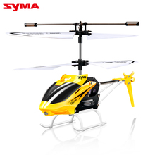 Hot Sale SYMA 2CH Mini RC Helicopter with Gyro Remote Control Toys Mini Drone with Flashing Led Aircraft Kid Toys(China)