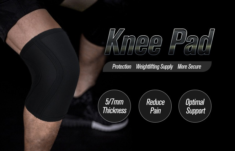 Knee Protector 7mm Joelheira Sports Fitness Weight Lifting Gym Protector 2pcs