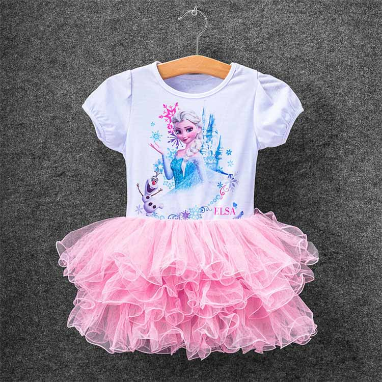 2016 Colorful New Girls Children Clothes,Anna Elsa Dress For Girl,Baby  Dress Elsa Custom Vestidos  Summer Cospaly Party Dress<br><br>Aliexpress