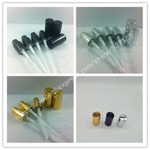 shiny black/gold/silver aluminum perfume sprayer cap for 5ml\10ml\15ml\20ml\30ml\50ml\100ml perfume bottle,18/410