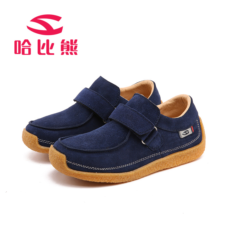 HOBIBEAR Genuine Leather Boys Shoes High Quality Nubuck Leather Kids Shoes Wearable Comfortable Casual Shoes Children(China (Mainland))