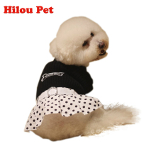 New Brand Spring Summer 2 Colors Dog Clothes Dog Dress Dot Prined Dress For Pet Clothes(China)