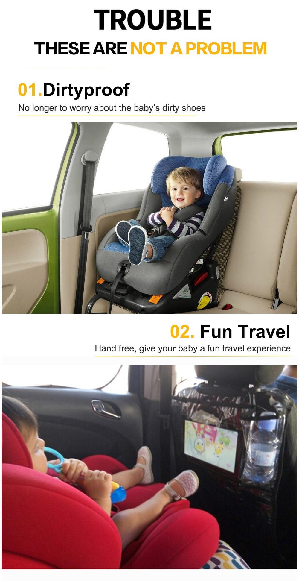 Environmental Thicken PVC Car Back Seat Protector