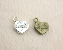 10pcs 12*15mm Antique Silver Or Bronze plated 3d cookie charms