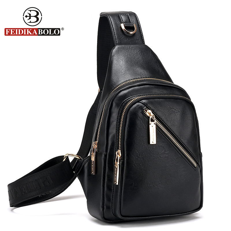 FD BOLO Brand Bag Men Chest Pack Single Shoulder Strap Backpack Leather Travel Bag Men Crossbody Bags Fashion Rucksack Chest Bag<br><br>Aliexpress