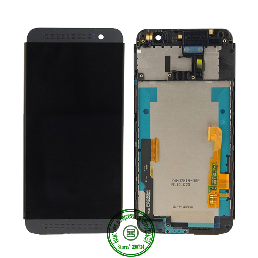 New Full LCD Display + Touch Screen Digitizer Assembly With Frame For HTC One E8 Replacement Repair Part Black Free Shipping<br><br>Aliexpress