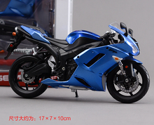 DIY 1:12 Scale Model Motorcycle Kawasaki ZX-6R Metal Kit Diecast Motorbike Model Maisto Assembly Toys Brinquedos Collection Gift