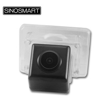 SINOSMART In Stock High Quality Rearview Parking Reverse Camera for Mercedes Benz C E Series Install in License Plate Lamp Hole(China)