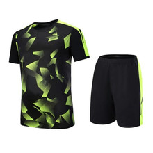 Men Women soccer jerseys sets survetement football jersey 2017 sports kit shirts shorts suits DIY print drawing number name LOGO(China)