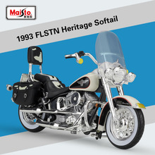 Maisto 1:18 Scale Harley 1993 FLSTN Heritage Softail Metal Diecast Motorcycle Model Racing Motorbike For Kids Toys Collection