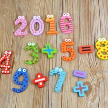 15Pcs Baby Kids Number with Symbols Wooden Fridge Magnet Educational Toy(China)