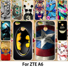 AKABEILA Case ZTE Blade A6 5.2 inch Cases Silicone TPU Soft Back Covers Painted Batman Captain American Patterns Housings