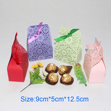 AVEBIEN Laser Paper Candy Box Wedding Decoration Mariage Gift Bag Decoration Accessories Flowers Sweet Favors Paper Craft 20pcs