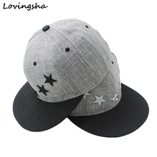 LOVINGSHA Star Embroidery Design Unisex Baseball Caps For Women Hot Selling Men Hip Hop Snapback Caps AD022