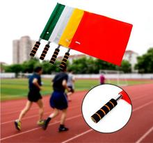 Wholesale 40pcs/lot Four Colors for Choose Sports Plain Champion Flag Training Referee Soccer Flags Command Flag(China)