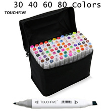 Touchfive 30 40 60 80 Colors Drawing Art Copic Markers Pen Set Oily Alcoholic Dual Headed Sketch Markers Animation Manga Design