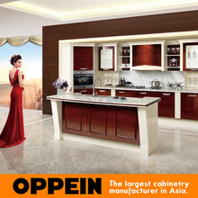 Kitchen cabinet Guangzhou Design Modular Solid Wood Home prefab kitchens OP15-057