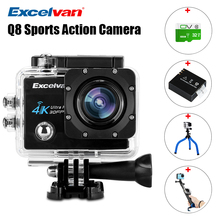 Excelvan Action Camera Q8 2.0 inch WiFi 4K 30FPS 16MP H.264 30m Waterproof 170 Wide Lens Action DV Sports Camera Sports DV