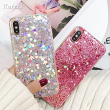 Buy Kerzzil Luxury Bling Glitter Sequins Phone cases iPhoneX Candy Colorful Shining Soft Silicone Back Cover iPhone X Capa for $2.29 in AliExpress store