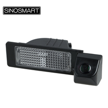 SINOSMART In Stock Car Rear View Parking Backup Camera for Volkswagen Santana Jetta Firm Installation in Number Plate Light Hole