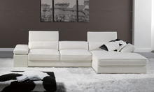 Free Shipping 2013 Modern French Design Genuine Leather L Shaped Corner Sofa Best living room the sofa LA066