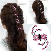 6Pcs Girls Crystal Snowflake Hair Clips Hair Pins Headwear Crystal Accessories Hair Clips Wholesale